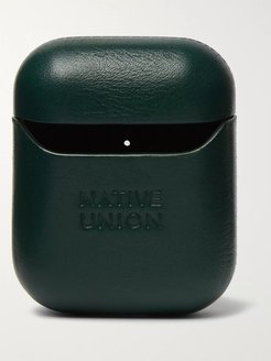 Leather AirPods Case - Men - Green