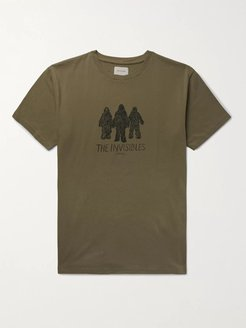 Invisibles Printed Organic Cotton-Jersey T-Shirt - Men - Brown