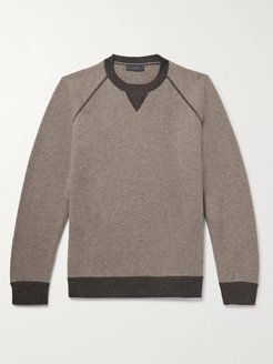 Mélange Wool and Cashmere-Blend Sweater - Men - Brown