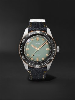 Momotaro Divers Sixty-Five Limited Edition Automatic 40mm Bronze, Stainless Steel and Denim Watch, Ref. No. 01 733 7707 - Men - Green