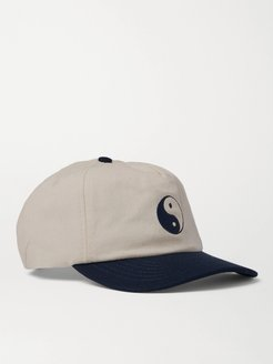 Duality Embroidered Cotton-Twill Baseball Cap - Men - Neutrals