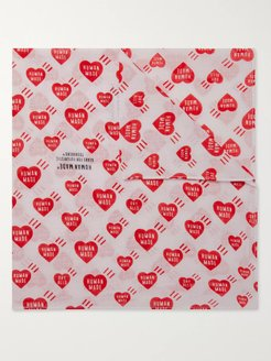 Printed Cotton Bandana - Men - Red