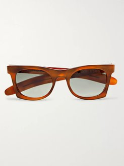 Erno Square-Frame Acetate Polarised Sunglasses - Men - Brown
