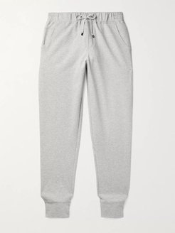 Tapered Fleece-Back Stretch-Cotton Sweatpants - Men - Gray
