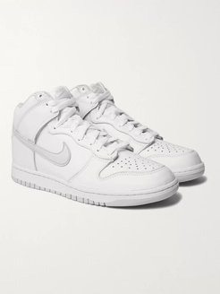 Dunk Leather High-Top Sneakers - Men - White