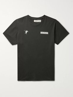 Printed Combed Cotton-Jersey T-Shirt - Men - Black