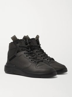 Wing Leather-Trimmed Rubber Sneakers - Men - Black