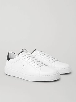 Basket on Time Leather Sneakers - Men - White