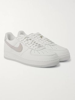 Air Force 1 07 Suede-Trimmed Full-Grain Leather Sneakers - Men - White