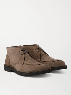 Split-Toe Suede Chukka Boots - Men - Neutrals