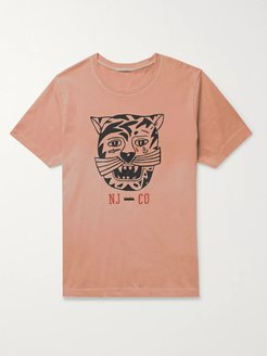 Roy Misfit Creature 2 Printed Stone-Washed Organic Cotton-Jersey T-Shirt - Men - Pink