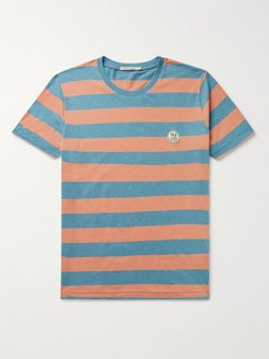 Roy Logo-Appliquéd Striped Slub Cotton-Jersey T-Shirt - Men - Blue