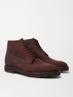 Forge Waxed-Suede Oxford Boots - Men - Brown