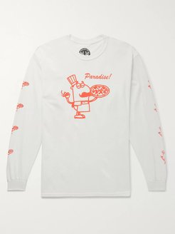99 Cent Pizza Printed Cotton-Jersey T-Shirt - Men - White