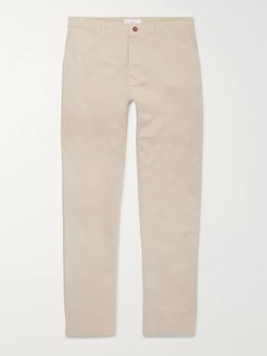 Straight-Leg Navy Garment-Dyed Cotton-Twill Chinos - Men - Neutrals