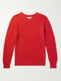 Cashmere and Wool-Blend Sweater - Men - Red