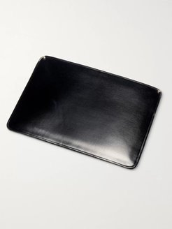 Polished-Leather Cardholder - Men - Black