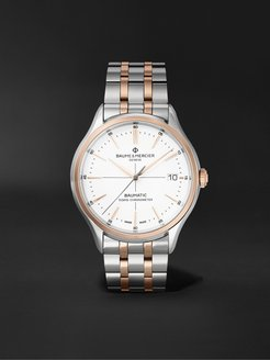 Clifton Baumatic Automatic Chronometer 40mm Stainless Steel and 18-Karat Rose Gold-Capped Watch, Ref. No. M0A10458 - Men - Silver