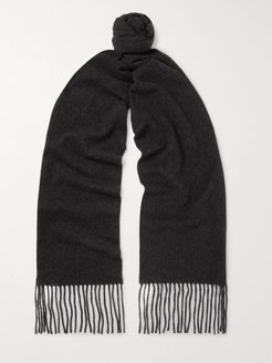 Canada Skinny Fringed Mélange Wool Scarf - Men - Gray