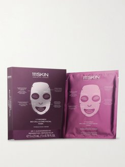 Y Theorem Bio Cellulose Facial Masks, 5 x 23ml - Men - Colorless
