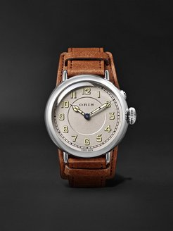 Big Crown 1917 Limited Edition Automatic 40mm Stainless Steel and Leather Watch, Ref. No. 01 732 7736 4081-Set LS - Men - Silver