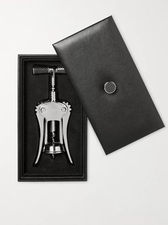 Chrome-Plated, Stainless Steel and Carbon Fibre Corkscrew - Men - Silver