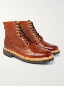Joseph Cap-Toe Burnished-Leather Boots - Men - Brown