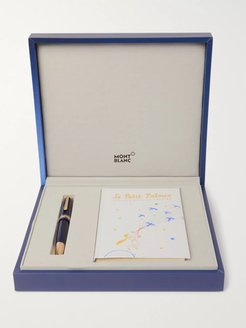 Meisterstück Le Petit Prince Engraved Gold-Tone and Resin Fountain Pen and Book Set - Men - Blue