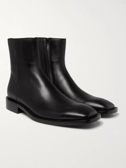 Polished-Leather Boots - Men - Black