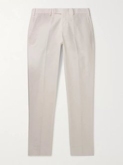 Gehry Slim-Fit Cotton and Linen-Blend Chinos - Men - White