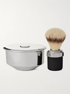 Two-Piece Stainless Steel and Chrome-Plated Shaving Set - Men - Colorless