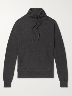 Wool and Cashmere-Blend Drawstring Mock-Neck Sweater - Men - Gray