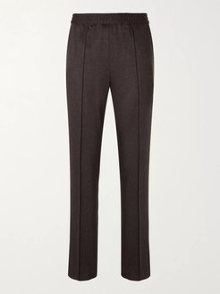 Virgin Wool and Cashmere-Blend Suit Trousers - Men - Brown