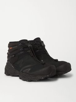 Snow Peak Tokyo Design Studio Nobium Suede and Rubber-Trimmed Mesh 3-in-1 Boots - Men - Black