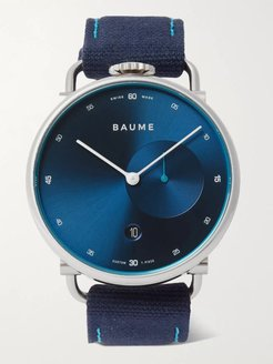 41mm Stainless Steel and Cotton-Canvas Watch, Ref. No. 10601 - Men - Blue