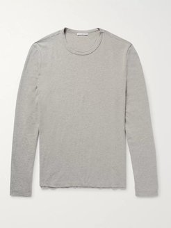 Combed Cotton-Jersey T-Shirt - Men - Gray
