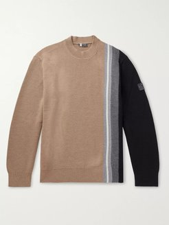 Striped TECHMERINO Wool Sweater - Men - Brown
