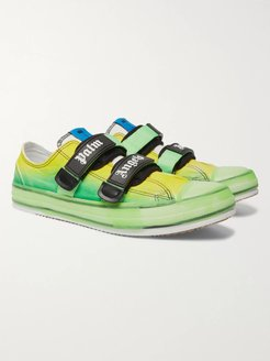 Rubber-Trimmed Canvas Sneakers - Men - Green