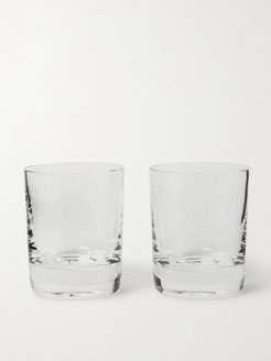 Higgs & Crick Set of Two Crystal Whiskey Tumblers - Men - Neutrals