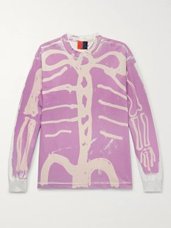 Skelly Painted Cotton-Jersey T-Shirt - Men - Pink