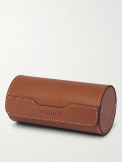Leather Case and Stainless Steel Cup Set - Men - Brown