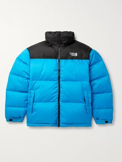 Colour-Block Quilted Shell Jacket - Men - Blue