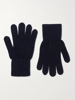 Merino Wool and Cashmere-Blend Gloves - Men - Blue