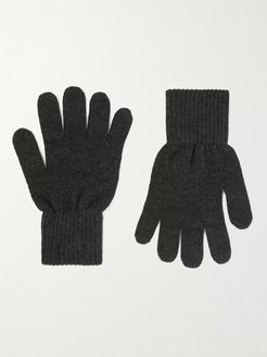 Merino Wool and Cashmere-Blend Gloves - Men - Gray