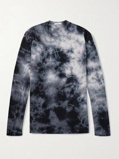Tie-Dyed Combed Cotton-Jersey T-Shirt - Men - Blue