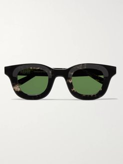 Thierry Lasry Rhodeo Square-Frame Camouflage-Print Acetate Sunglasses - Men - Green