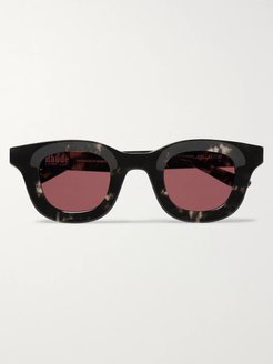 Thierry Lasry Rhodeo Square-Frame Camouflage-Print Acetate Sunglasses - Men - Red