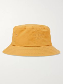 Logo-Embroidered Twill Bucket Hat - Men - Yellow