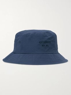 Logo-Embroidered Twill Bucket Hat - Men - Blue