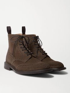 Stow Suede Brogue Boots - Men - Brown